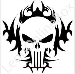 Skull Punisher   Tribal Decal Vinyl Car Wall Laptop Cellphone Sticker