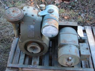, WW II Military Radio GENERATOR, Leland alternator, army navy, PE 75