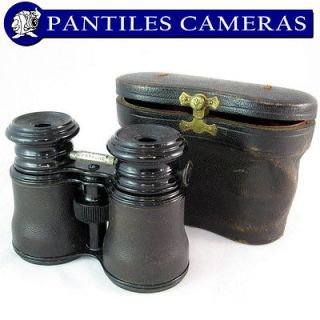 Le Maire FABT Paris Antique Triple Optic Binocular c1910   Inc Case
