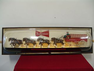 Budweiser Clydesdale Horses And Wagon Team Sign   Very Large