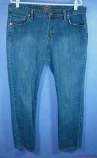 Misses Bitten Sarah Jessica Parker Size 16 Mid Rise Straight Leg Blue