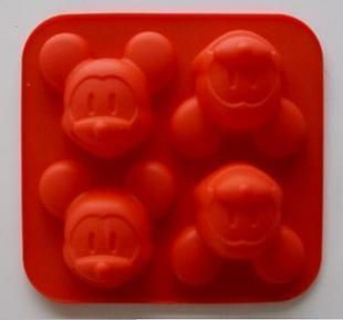 Silicone 4 Shapes mickey mouse Cake Mould Baking Cup Pan cake Mold