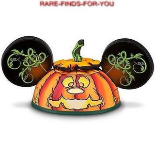 Disney Mickey Mouse Halloween Jack OLantern Pumpkin Ear Hat Chip