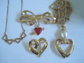 Heart Shape Jewelry Lot Phister Ent 1996 Premier Designs Avon+