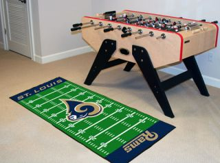 St. Louis Rams NFL 29 x 72 Football Field Runner Area Rug Floor Mat