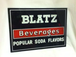 KV4 BLATZ BEER SIGN PROHIBITION REVERSE GLASS POPULAR SODA FLAVORS