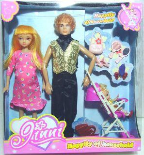 Infant Doll Nursery Baby Fits Barbie Midge and Dollhouse 1 1/2