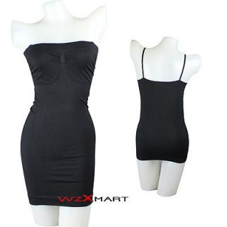 Control Seamless Body Shaper Full Slip Stretch Slimming Tube Dress