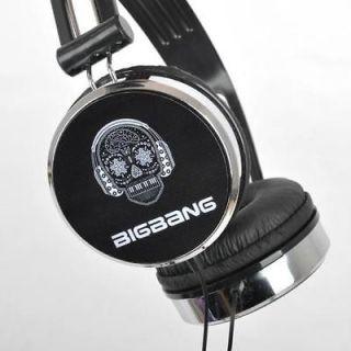 POP SECOND VERSION BIGBANG big bang with VIP KPOP BLACK EARPHONES