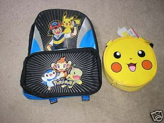 nwt pokemon backpack and lunch box time left $ 44