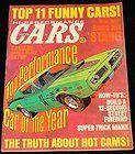MARCH 1971 HI PERFORMANCE CARS MAGAZINE DODGE CHARGER, FIREBIRD