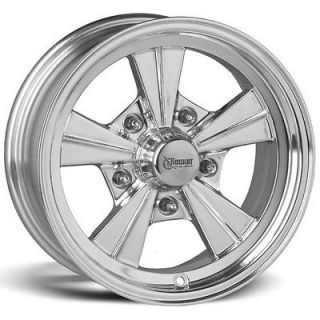 Rocket Strike Polished Mag Wheel/Rim, 5 on 4.5 BP, 4.00 Backspace