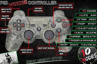 PLAYSTATION 3 PS3 MODDED ADJUSTABLE RAPID FIRE CONTROLLER   UNLIMITED