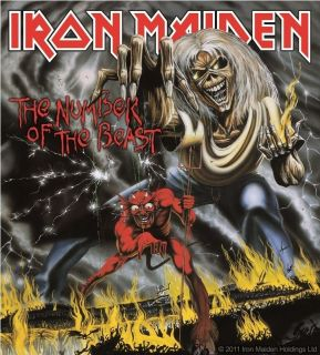 d427 iron maiden the number of the beast decal sticker