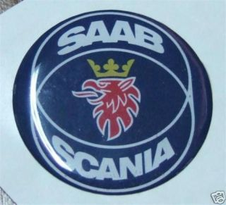 3d 2,25 Saab Scania Hood badge emblem replacement sticker decal 900 9