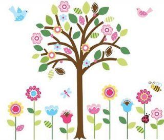 NEW Giant Spring Flower Garden & Tree Baby/Nursery Wall Sticker Decals