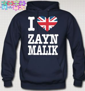 LOVE ZAYN MALIK HOODIE british flag niall zayn liam louis one