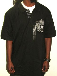 marc ecko polo shirt new mens classic black size xl one day shipping