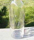 Old Antique Mr. Boston Cal. Port Wine Bin Bottle FLAT SIDED GLASS