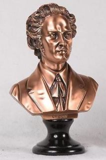 inch copper composer frederic chopin head bust figure  56