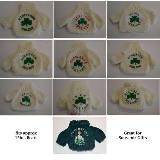IRISH SHAMROCK TEDDY BEAR JUMPERS   approx 15ins BEARS   FREE