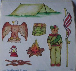 RETIRED BOY SCOUT CAMP WEBELO EAGLE TENT PACK SCRAPBOOK STICKER