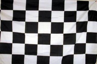 black and white checkered racing flag nascar 3x5 new time