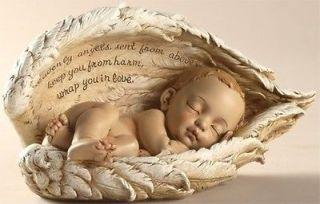 sleeping baby angel wings infant miscarriage memorial