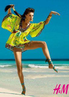 Matthew Williamson for H&M Boho hippie parrot tunic blouse kaftan Sold