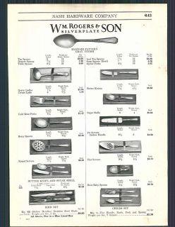 1927 ad Rogers & Son 1847 Bros Mayfair Flatware Silverware
