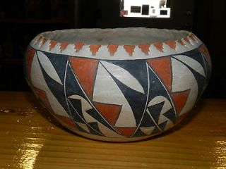 SUPERB EARLY/MID 1900S ACOMA PUEBLO BOWL BEAUTIFUL NATURAL PAINT