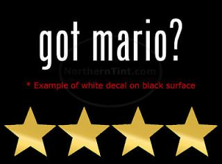 got mario? Funny wall art truck car decal sticker