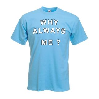 "Mario Balotelli ""Why Always Me"" T Shirt  MANCHESTER CITY"
