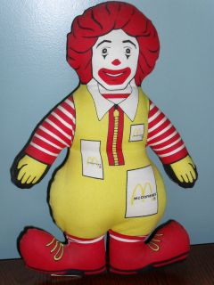 vintage 1984 mcdonald s ronald mcdonald stuffed doll time left