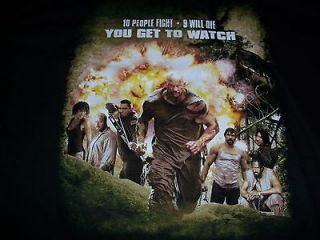 Mens WWE Stone Cold Steve Austin The Condemned Movie Promotional XL T