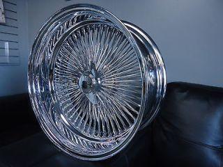 18 DAYTON CHROME 18x8 Wire Wheels Full Set Rims NEW Deep Dish
