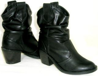 CUTE Western Cowboy Girls Kids Mid Calf *Slouchy Ankle Riding Boots