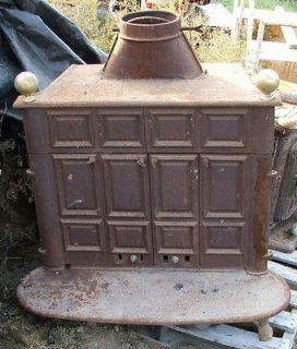 Atlanta model 26 ANTIQUE cast iron wood burning stove double door