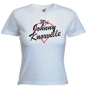 mrs johnny knoxville t shirt print any name words more