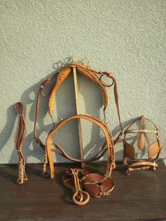 new leather deluxe london horse harness set full size time