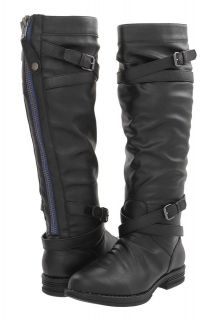 Steve Madden Girl NEW Zerge Black Buckle Tall Knee High Riding Boots