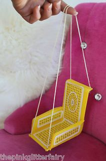 Barbie DOLL SIZE vintage 1960s 1970s dream doll house yellow swing