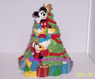 Christmas Tree Cookie Jar Mickey Mouse Donald Duck Goofy