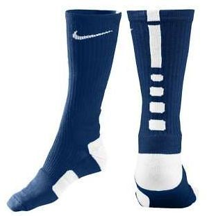 nike elite basketball crew sock men s midnight navy white extra large