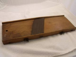 Antique Primitive VOSS # 6 Wood Cast Iron Hand Bread Slicer Old 1900s