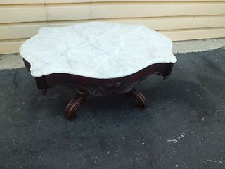 Antique Victorian Marble Top Coffee Table Stand QUALITY RARE FIND