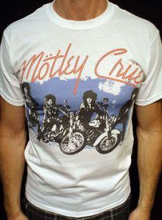 motley crue t shirt vintage 1987 tour jersey wht