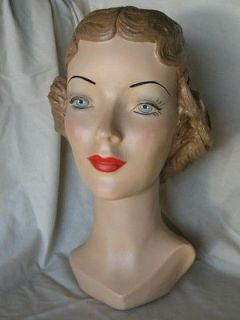 Mannequin Head Advertising Display 17 by Marge Crunkleton, signed