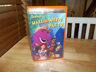 barney s halloween party classic collection vhs