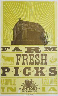 Mike Wolfe Autographed Hatch Show Poster Farm Fresh Picks Antique